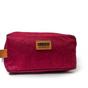 kaeme classic magenta print toiletry bag